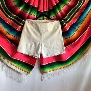 Attyre White Scallop Shorts